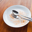 Empty dish after food — Stock Photo