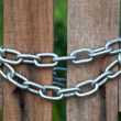 Safe by wood and chain — Stock Photo #35949685