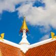 Gable apex of Thai temple — Stock Photo