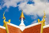 Gable apex of Thai temple — Stock Photo