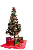 árvore de natal decorada — Foto Stock