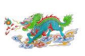 カラフルな中国のドラゴンの図面 — ストック写真