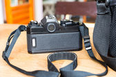Black SLR camera — Stock Photo