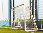 Football (soccer) goal — Stock Photo
