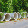 Concrete drainage pipes — Stock Photo