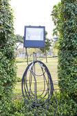 Halogen spotlight in park — Stock Photo