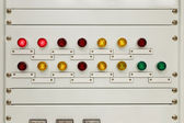 Light on electrical panel control — Stock fotografie