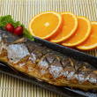 Saba Fish Steak — Stock Photo