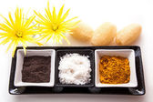 Coffee, Salt and Turmeric Scrub — Foto Stock