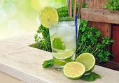 Cocktail Mojito — Stock Photo