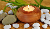 CANDLES FOR SPA — Stock Photo