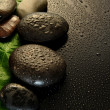 Wet stones massage — Stock Photo
