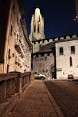 Girona at night — Stock Photo