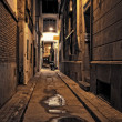 Lonely street at night — Stock Photo