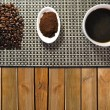 Stock Photo: Three types of coffee