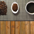 Three types of coffee — Stock Photo