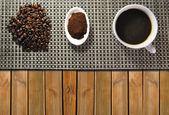 Three types of coffee — Stock Photo