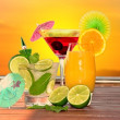 Cocktails in sunset — Stock Photo