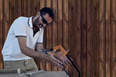 Carpenter crazy — Stock Photo