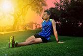 Jovem atleta — Foto Stock