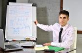 Empresário em seu escritório — Foto Stock