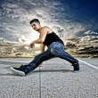 Stock Photo: Breakdance dancer