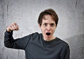 Aggressive young man — Stock Photo