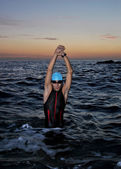 Triathlon young athlete — Stockfoto