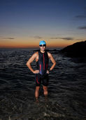 Triathlon young athlete — Stock Photo