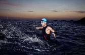 Triathlon young athlete — Foto Stock