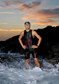 Triathlon young athlete — Foto de Stock