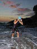 Triathlon young athlete — ストック写真