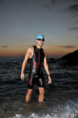 Triathlon young athlete — 图库照片