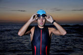 Triathlon young athlete — Stok fotoğraf