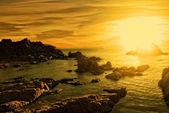 Alba su una spiaggia — Foto Stock