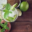 Glass of mojito cocktail — Stock Photo