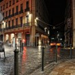Central toulouse street at night — Stock Photo