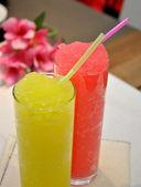 Koktejl jahodový a citron — Stock fotografie