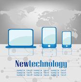 Datorer, telefoner och tabletter — Stockvektor