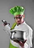 Chef-kok werken — Stockfoto