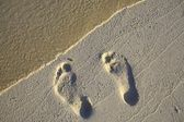 Fun footstep — Stock Photo
