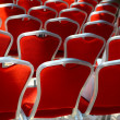 Red chairs — Stock Photo