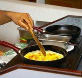 Chicken eggs omelet — Stock Photo
