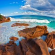 Seascape view  with a huge stones -  