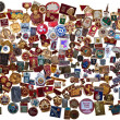 History of the USSR in the badges — Stock Photo