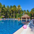 swimming pool in a tropical hotel — Foto de Stock