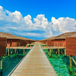 Tropical Water Bungalows, Maldives - Stock Photo