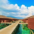 Tropical Water Bungalows, Maldives — Stock Photo #21808531
