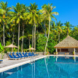 Swimming pool in tropical hotel — Stock Photo #21808869