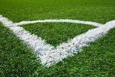 Corner of a soccer field — Stock Photo